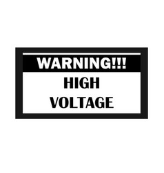 high voltage warning icon electrocution danger vector image