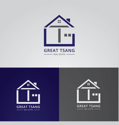home icon logo design vector image
