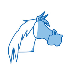 Horse animal farm domestic strong image vector