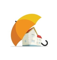House insurance concept home real estate vector