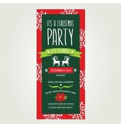 Invitation Merry ChristmasTypography vector
