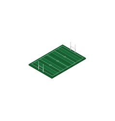 isolated rugby isometric american football vector image