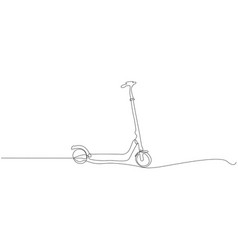 kick scooter line icon on white vector image