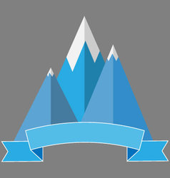 Logo mountaineering vector image