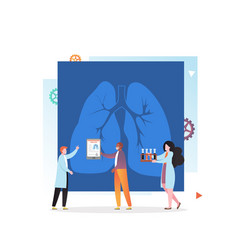 lung x-ray concept for web banner website vector image