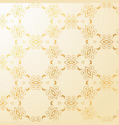 Luxury golden floral decoration background vector