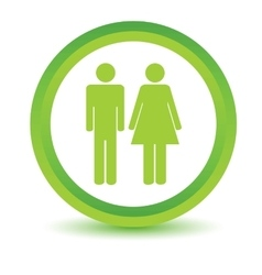 Man and woman volumetric icon vector