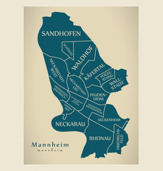 Modern city map - mannheim city of germany with vector