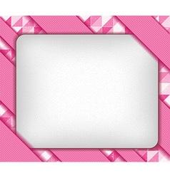 mosaic ribbons and paper vector image