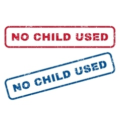 No Child Used Rubber Stamps vector image