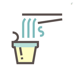 Noodle in cup icon design for food graphic vector