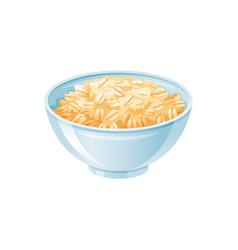 oats bowl oatmeal breakfast cup oat grain vector image