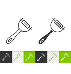 peeler simple black line icon vector image