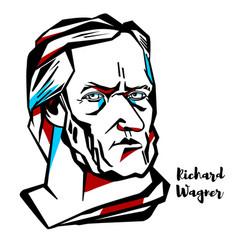 richard wagner portrait vector image