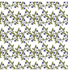 Seamless pattern with flowers in vintage style vector image