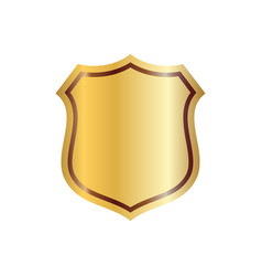 Shield gold icon shape emblem vector