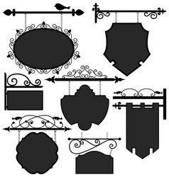 signage shop sign route a set ornament signage vector image