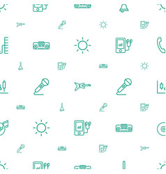 Sound icons pattern seamless white background vector