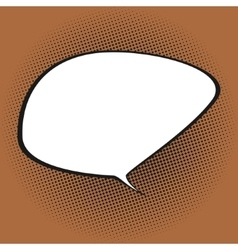 Speech bubble on orange background vector