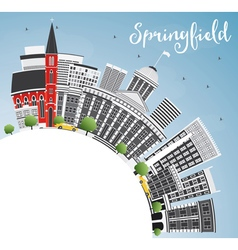 Springfield Skyline with Gray Buildings vector image