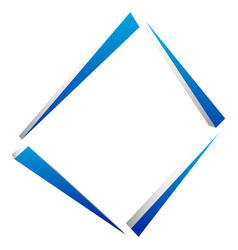 square geometric element abstract square symbol vector image