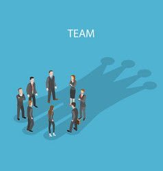Successful team flat isometric concept vector