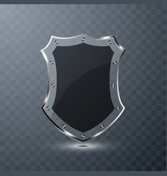 Transparent glass shield on background vector
