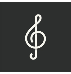 Treble Clef Abstract Symbol Icon vector