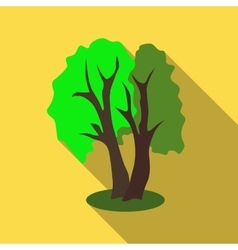Two trees icon flat style vector image
