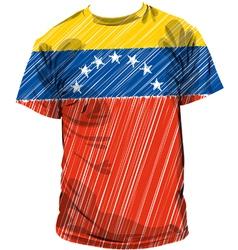 Venezuela tee vector image