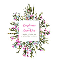 vintage watercolor floral wedding invitation vector image