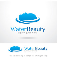 water and face logo template vector image