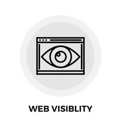 Web Visiblity Line Icon vector image
