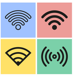 Wi-fi icon set vector