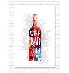 wine list template for bar or restaurant menu vector image