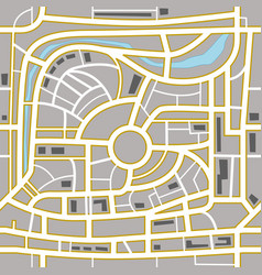 Abstract city map vector image
