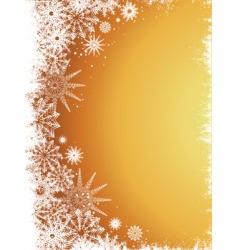 golden snowflakes vector image