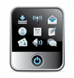 phone web icon vector image vector image