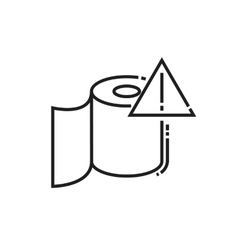 roll of toilet paper icon vector image