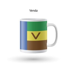 Venda flag souvenir mug on white background vector image vector image