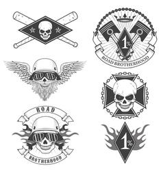 biker bages vector image