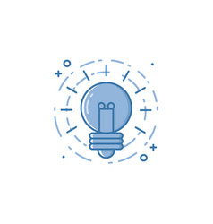 Business of light bulb in flat vector