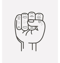 fist isolated icon design vector image