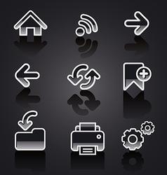 glossy web navigation icon set vector image