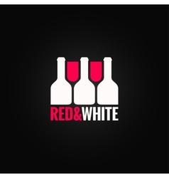 wine glass bottle design background vector image