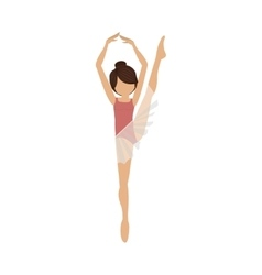 colorful dancer fifth position with leg up vector image