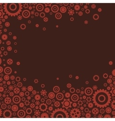 colourful gears background flat design for cards vector image