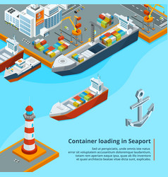 dry cargo ship with containers maritime vector image