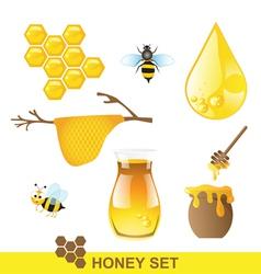 Honey set vector image vector image