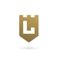 letter l shield logo icon design template elements vector image vector image